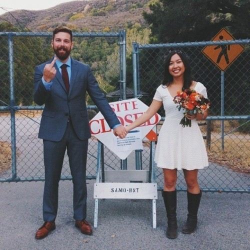 My friends were supposed to get married in Yosemite this weekend. Thanks to the Government shut down they had to reschedule last minute. They just posted this pic. - Imgur
