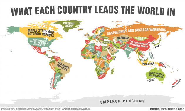 Great Map Shows What Every Country Is The World Leader In... What About Ireland?