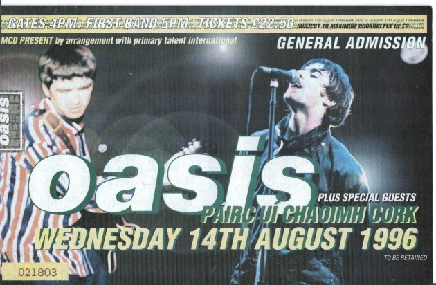 oasis-cork-ticket-august-1996
