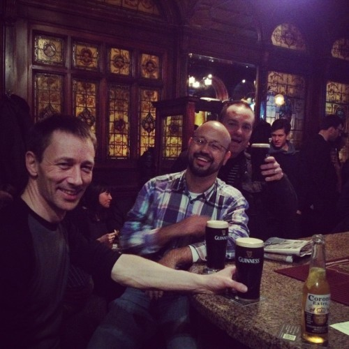 Pre conference pints, The Stags Head.