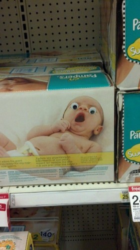 One pair of googly eyes, one trip to target. - Imgur