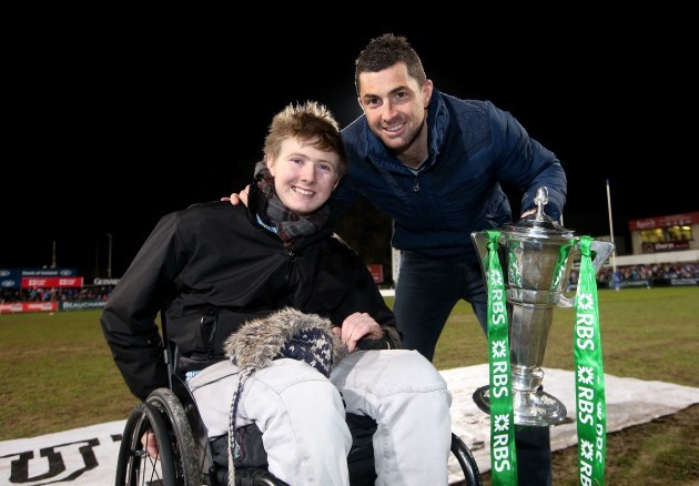 Jack Kavanagh and Rob Kearney at the game