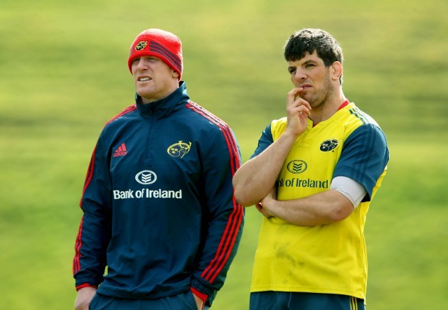 Paul O'Connell and Donncha O'Callaghan 18/3/2014