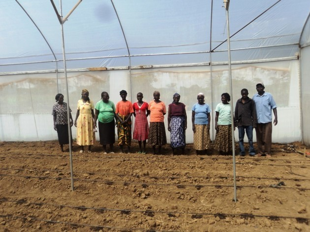 Belion women's group who we built a greenhouse for.