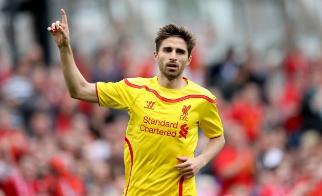 Fabio Borini celebrates scoring his sides second goal