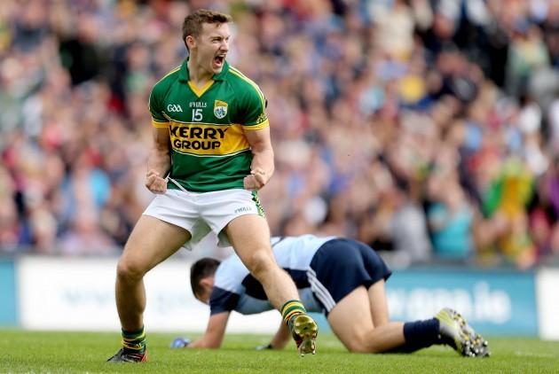 James O'Donoghue celebrates scoring his sides first goal