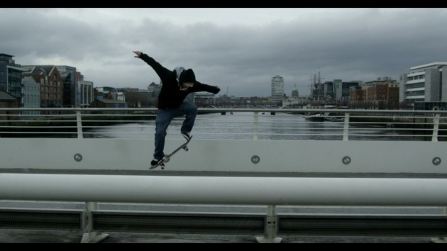Hill Street - Skateboarder on the Liffey