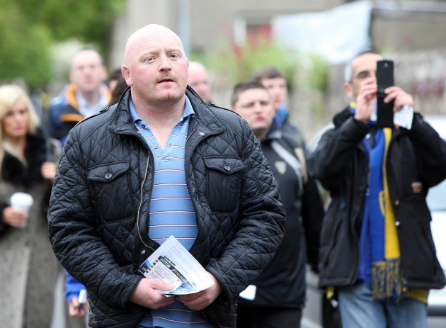 Bernard Jackman arrives for the match