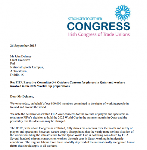 ictu letter to fai re qatar