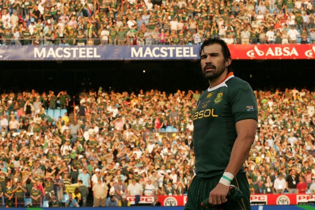 Victor Matfield during his 100th test