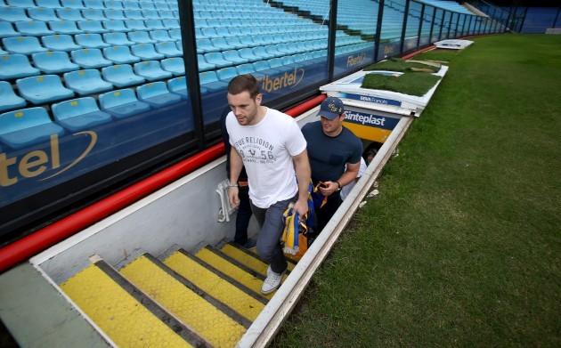 Darren Cave in the Boca Stadium