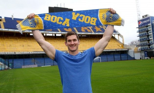 Robbie Diack in Boca stadium
