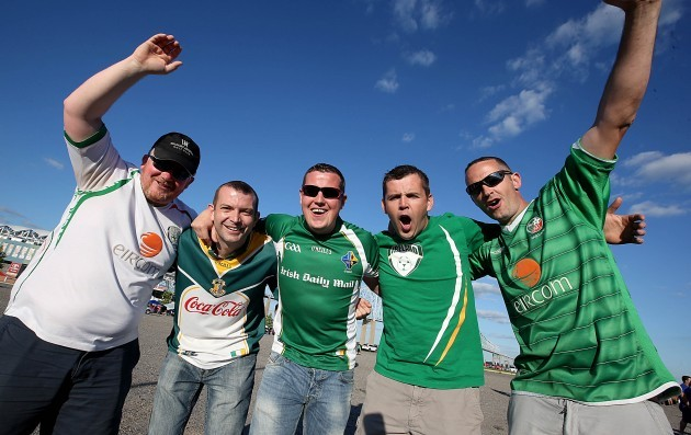 Ireland supporters at the game