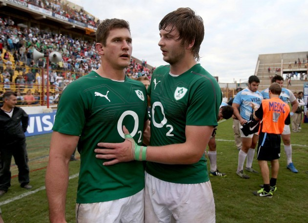 Robbie Diack and Iain Henderson after the game