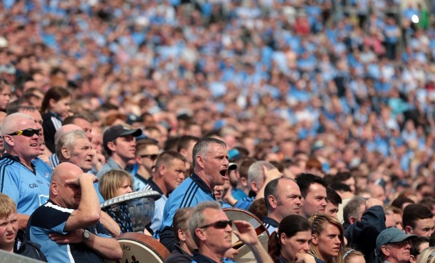 Dublin fans on The Hill