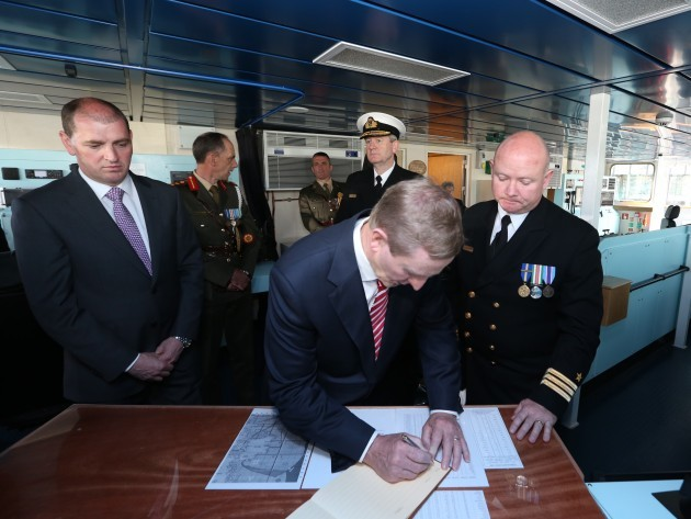 Samuel Becket Irish Navy Ships Ceremonies