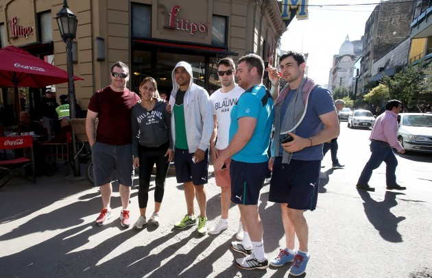 Damien Varley, Simon Zebo, Conor Murray, David Kilcoyne and Felix Jones