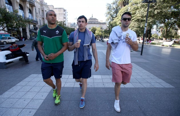 Simon Zebo, Felix Jones and Conor Murray