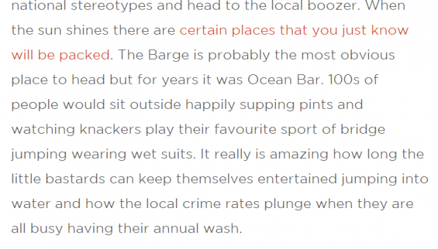 This paragraph isn't offensive, is it?