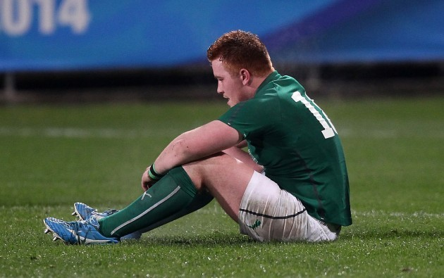 Oisin Heffernan dejected