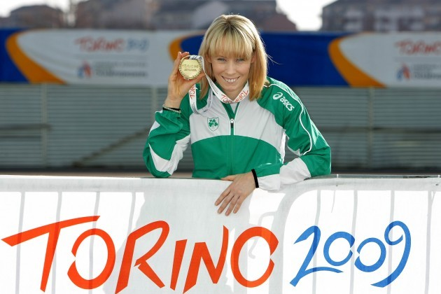 Derval O'Rourke with her bronze medal