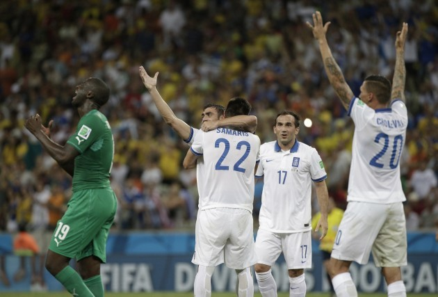 Brazil Soccer WCup Greece Ivory Coast