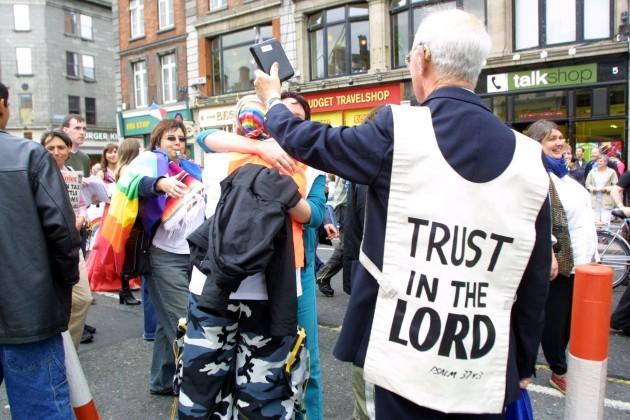 GAY PRIDE DEMOS PARADES SEXUALITY DRESSING UP RELIGION IN IRELAND