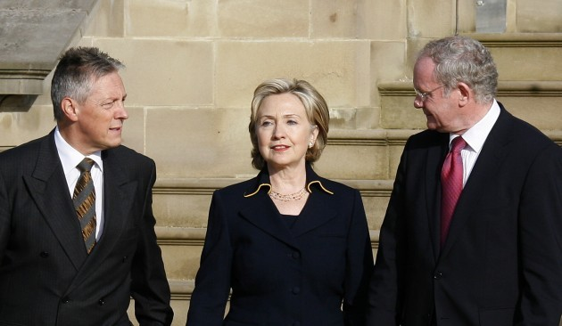 BRITAIN NORTHERN IRELAND HILLARY CLINTON