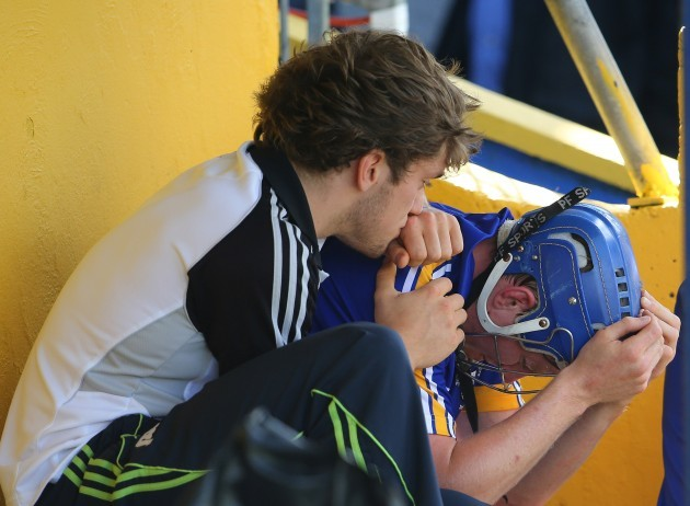 Shane O'Donnell consoles Podge Collins