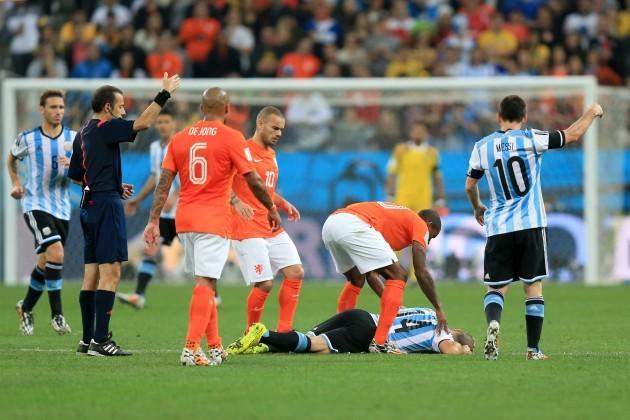 Soccer - FIFA World Cup 2014 - Semi Final - Netherlands v Argentina - Arena de Sao Paulo