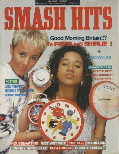 Pepsi & Shirlie - Smash Hits - May 1987 - MAGAZINE-343822