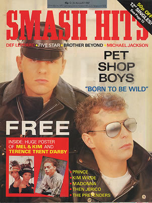 Pet Shop Boys - Smash Hits - August 1987 - MAGAZINE-340980