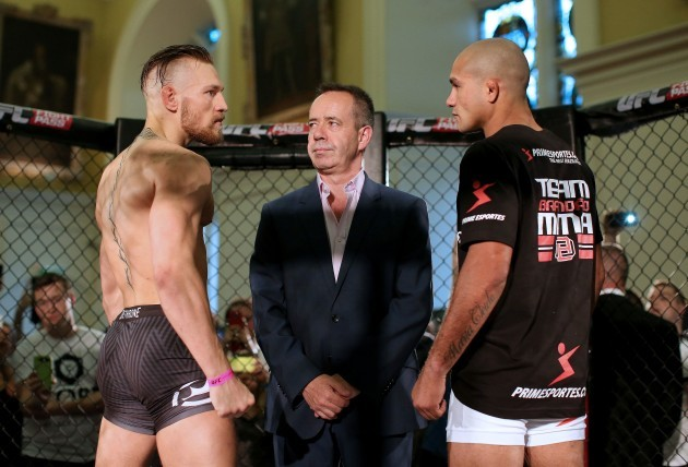 Conor McGregor and Diego Brandao