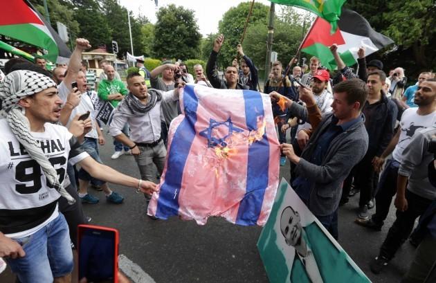 Pro-Gaza protest at Israeli Embassy. A