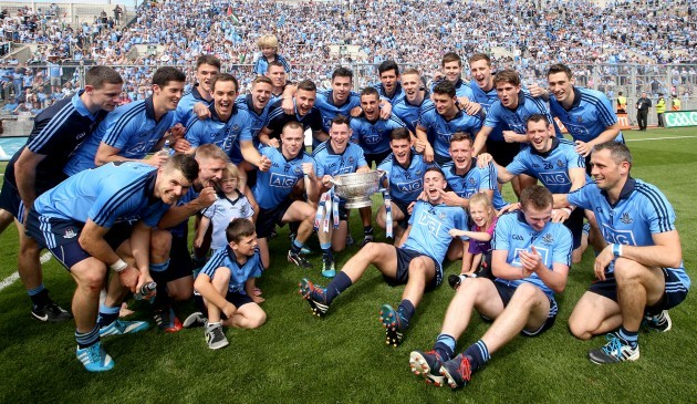 The Dublin team celebrate