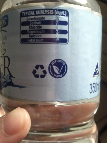 Apparently bottled water has to be specified whether it is in fact vegan or vegetarian - Imgur