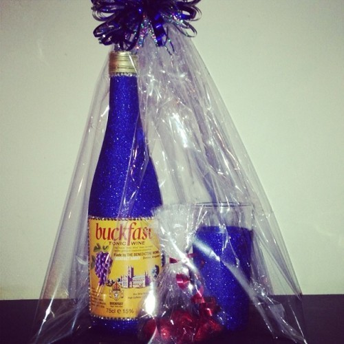 #buckfast #giftset #glitter #glass #bottle #chocolates