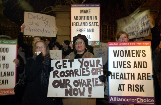 ABORTION DEMOS PROTESTS ISSUES REFERENDUM RELIGION IN IRELAND