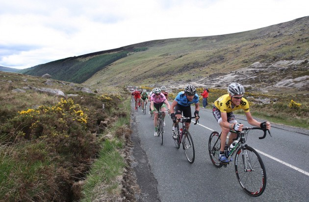 Alexander Wetterall heads up the Wicklow Gap 29/5/2010