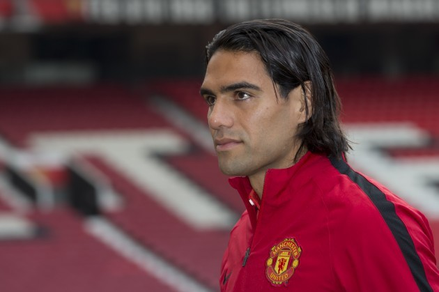 Britain Soccer Falcao Blind Introduction