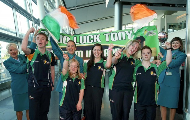 Team Ireland Depart for 2014 Special Olympics European Games with Aer Lingus 9/9/2014