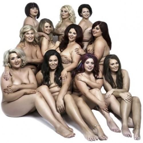 average size nude women