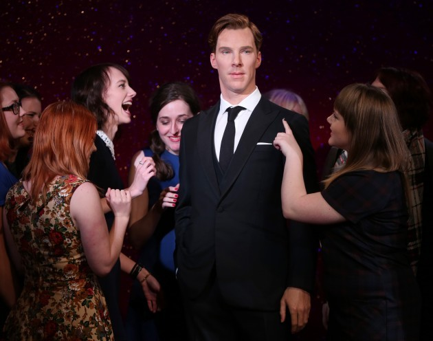 Britain Benedict Cumberbatch Wax Figure Unveiling