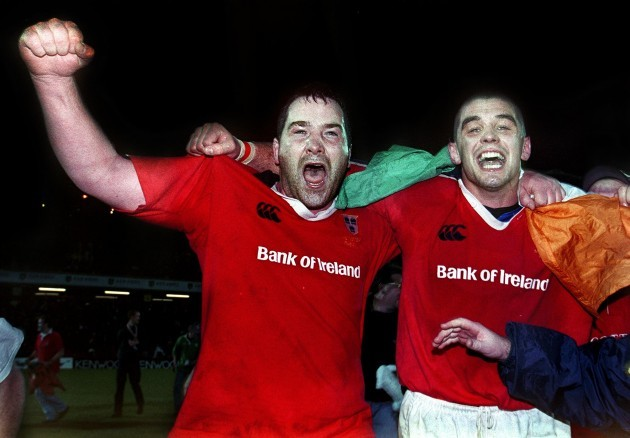 Anthony Foley and Alan Quinlan 28/11/1999