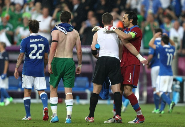 Soccer - UEFA Euro 2012 - Group C - Italy v Republic of Ireland - Municipal Stadium