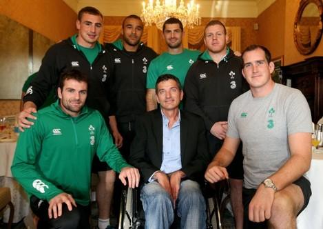 Rugby legend Joost van der Westhuizen Meets The Irish Rugby Team