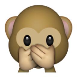 Image result for emoticon shut hand monkey