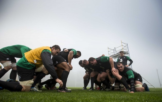 A scrum during training