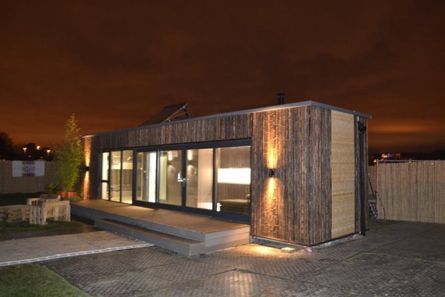the shipping container house that was built in three days. Black Bedroom Furniture Sets. Home Design Ideas