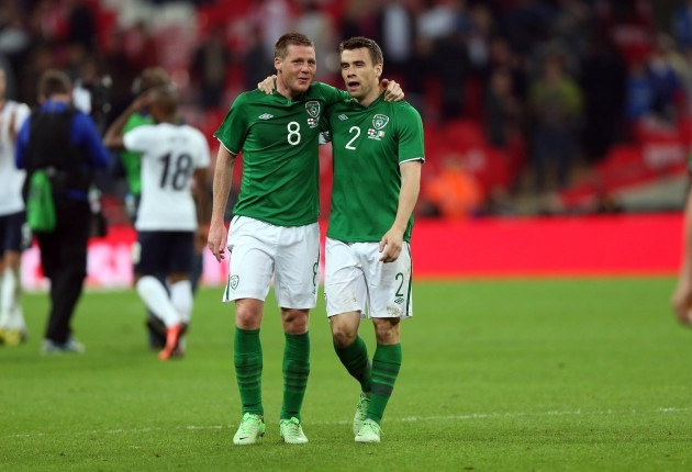 James McCarthy and Seamus Coleman after the game